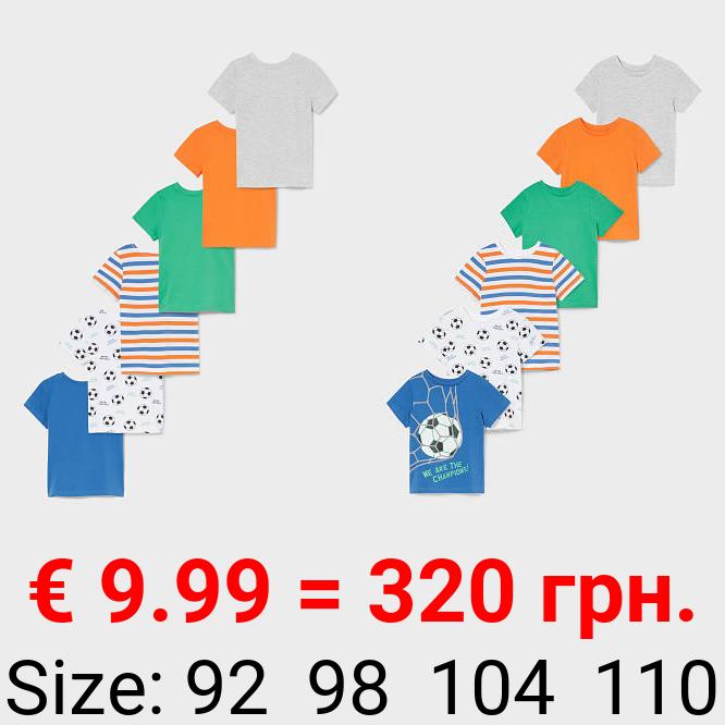 Multipack 6er - Kurzarmshirt - Bio-Baumwolle