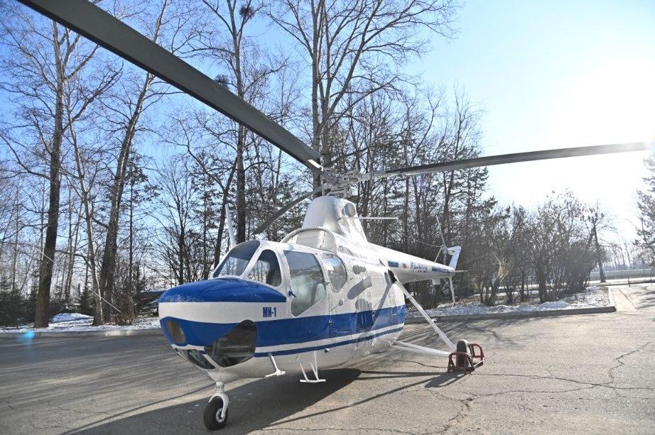 Хабаровский вертолёт-памятник вернут на постамент