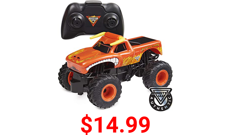 Monster Jam, Official El Toro Loco Remote Control Monster Truck, 1:24 Scale, 2.4 GHz, for Ages 4 and up