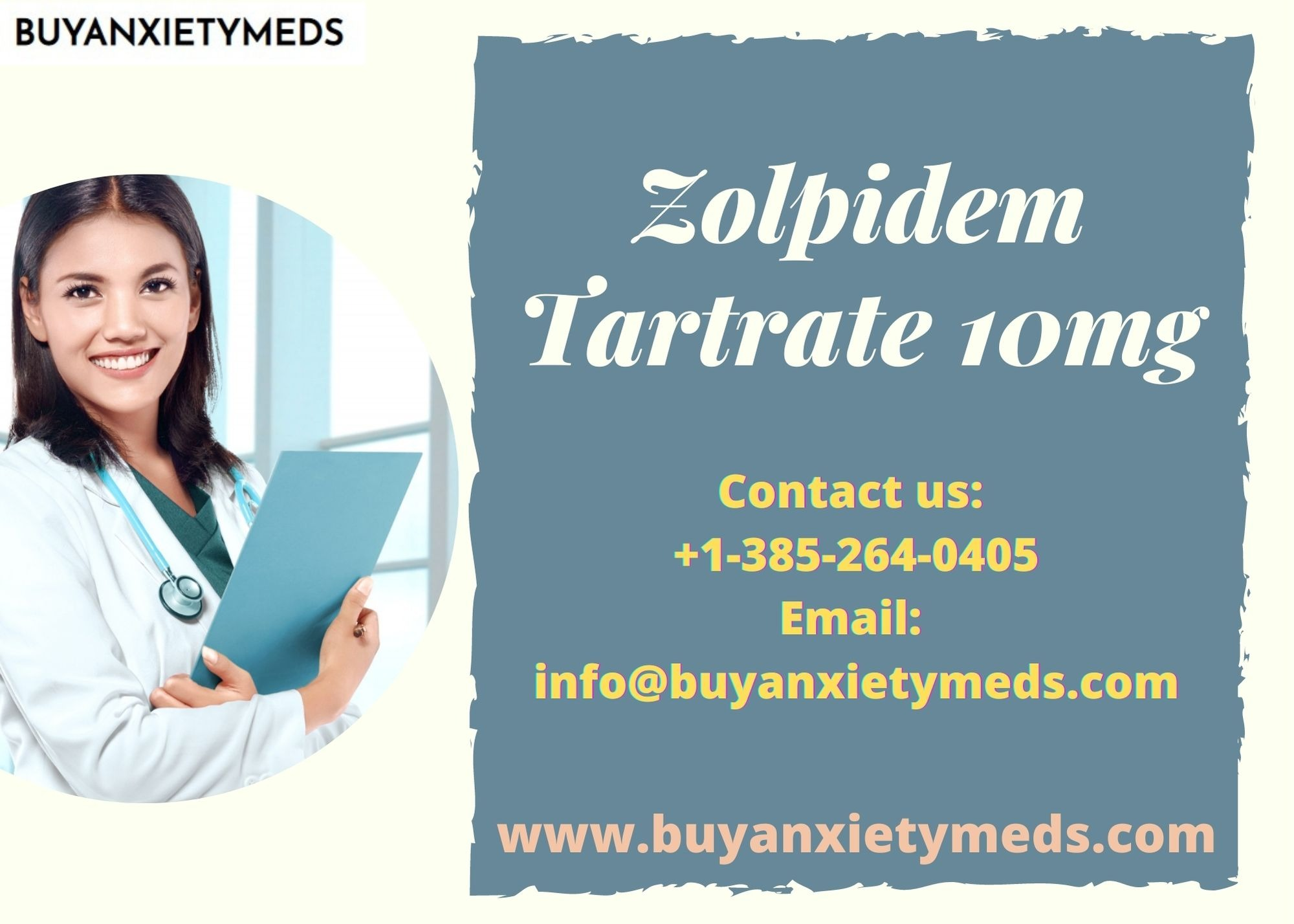 Zolpidem Tartrate 10mg || Buy Anxeity Meds Online