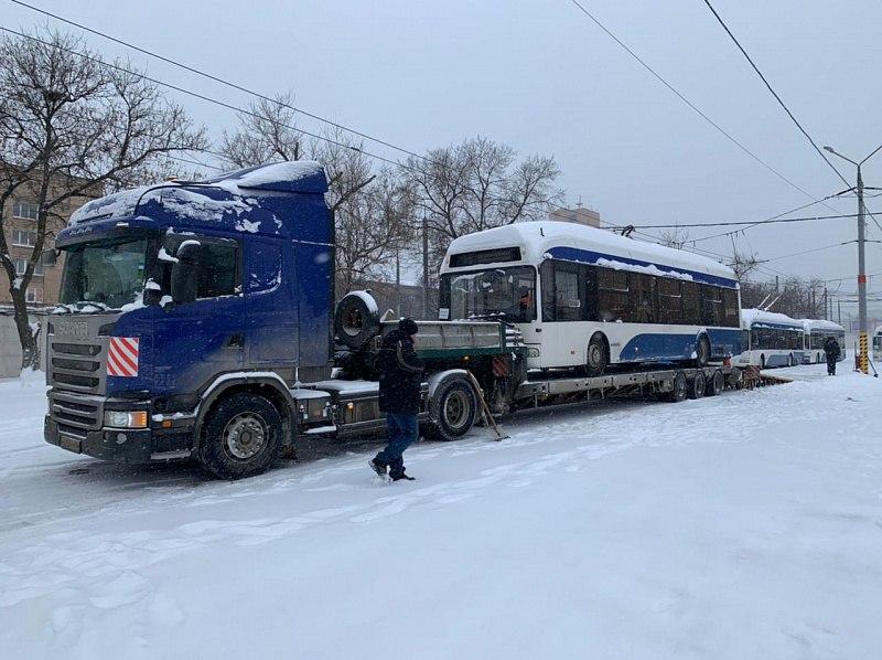 Москва начала отгрузку БУ-шных троллейбусов в Хабаровск