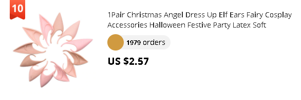 1Pair Christmas Angel Dress Up Elf Ears Fairy Cosplay Accessories Halloween Festive Party Latex Soft Harmless False Ears Props