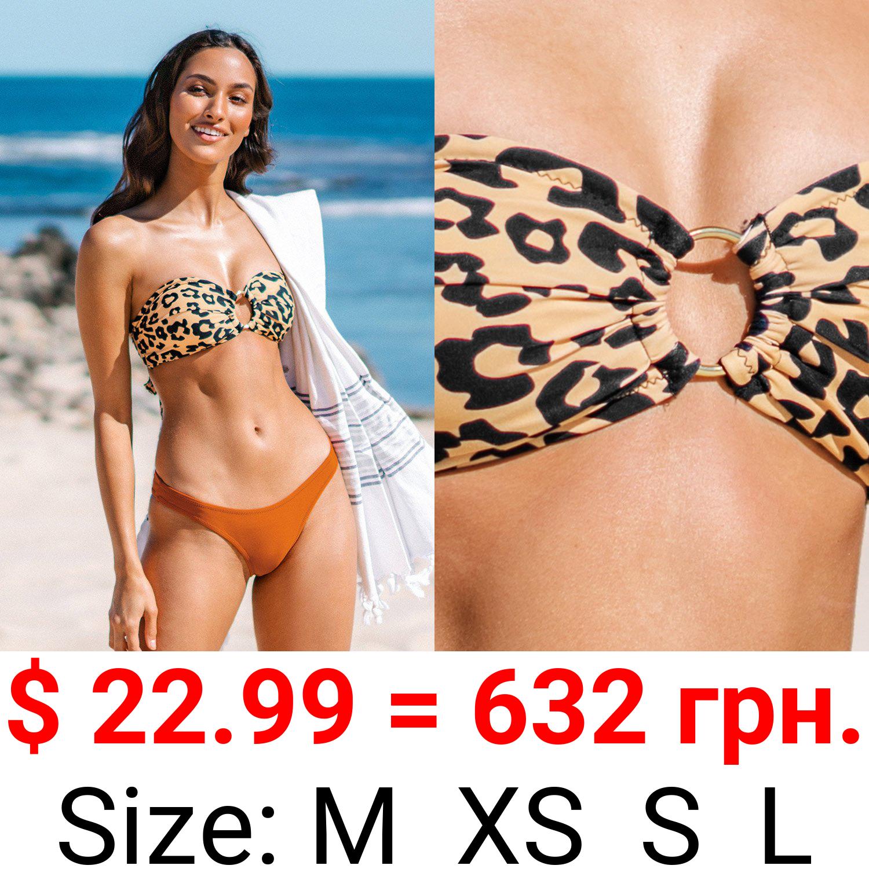 Leopard O-Ring Bandeau Bikini