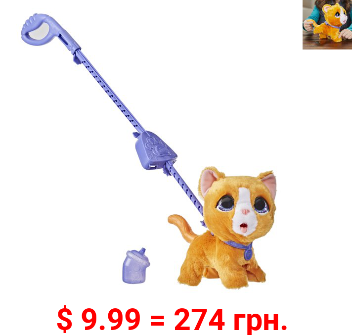furReal Peealots Big Wags Kitty Interactive Pet Toy, Ages 4 and Up