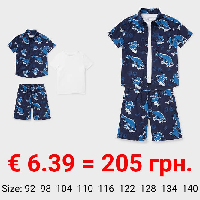 Set - Hemd, Kurzarmshirt und Shorts - Bio-Baumwolle