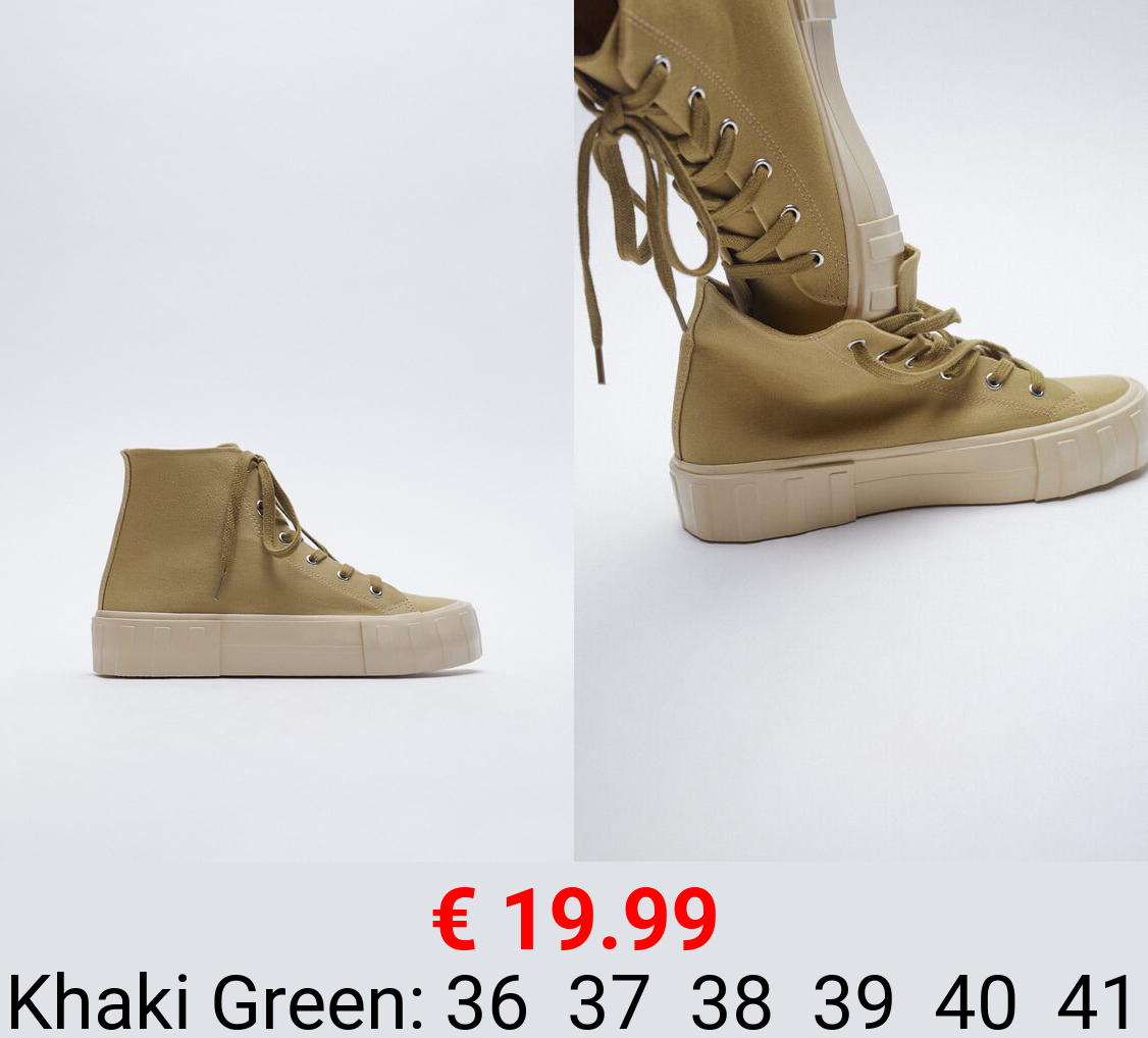CANVAS HIGH-TOP TRAINERS