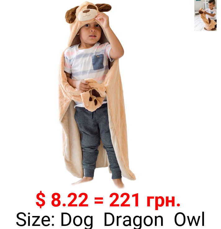 Animal Adventure® Wild for Style™ 2-in-1 Transformable Character Cape & Plush Pal – Dog