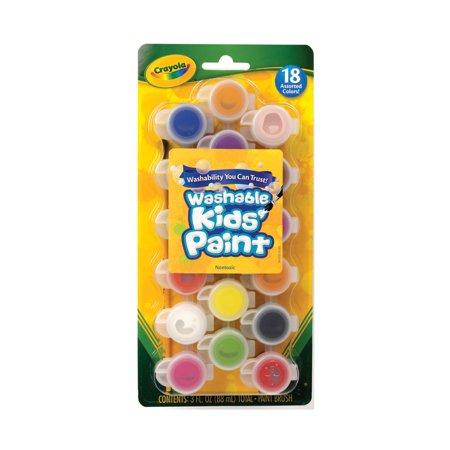 Crayola Washable Kids Paint Set, 18 Assorted Colors