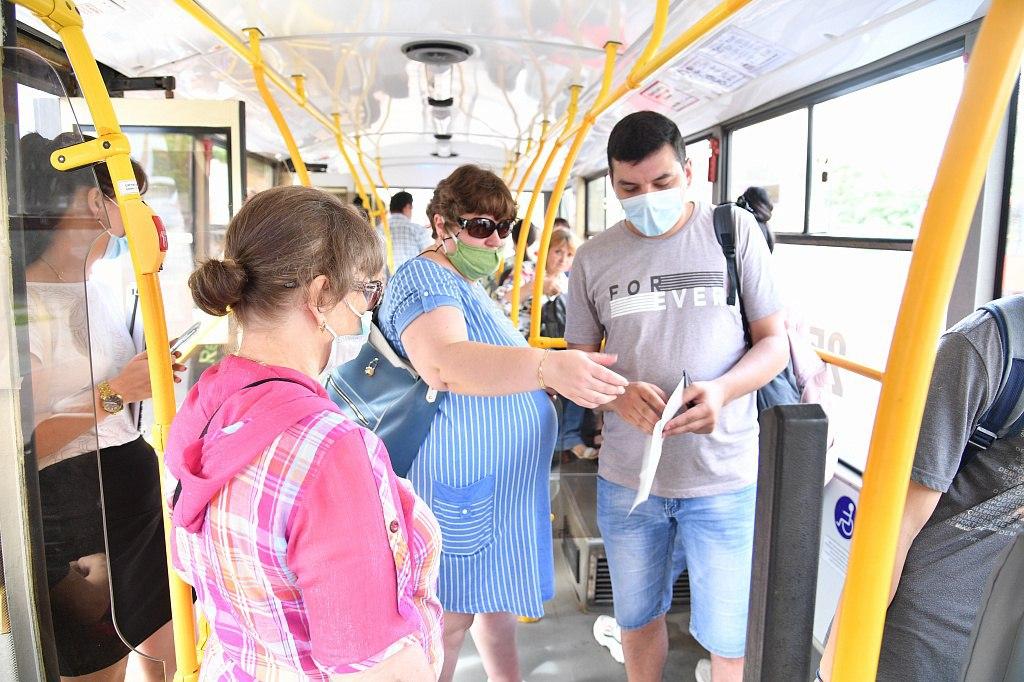 Масочный рейд прошел в общественном транспорте Хабаровска