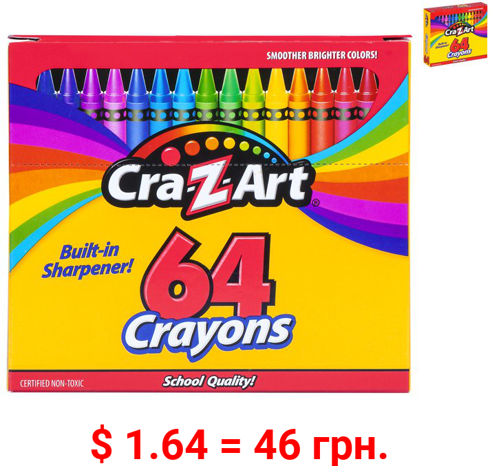 Cra-Z-Art School Quality Crayons, 64 Count