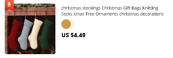 christmas stockings Christmas Gift Bags Knitting Socks Xmas Tree Ornaments christmas decorations for home Sep#19