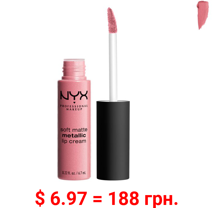 NYX Professional Makeup Soft Matte Metallic Lip Cream, Milan