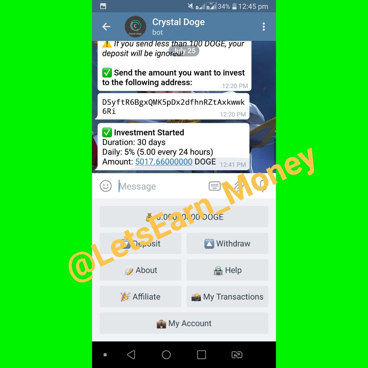 Telegram-канал letsearn_money - Let's Earn Money