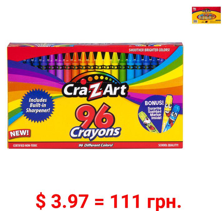 Cra-Z-Art School Quality Crayons, 96 Count