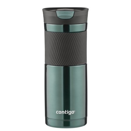 Contigo Byron Snapseal 20 Oz Vacuum-insulated Stainless Steel Travel Mug, Grayed Jade