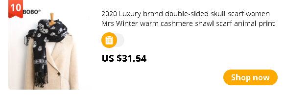 2020 Luxury brand double-sided skull scarf women Mrs Winter warm cashmere shawl scarf animal print ghost head soft thin blanket