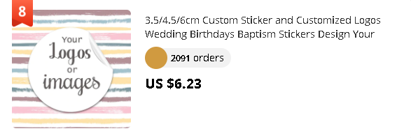 3.5/4.5/6cm Custom Sticker and Customized Logos Wedding Birthdays Baptism Stickers Design Your Own Stickers Personalize Stickers