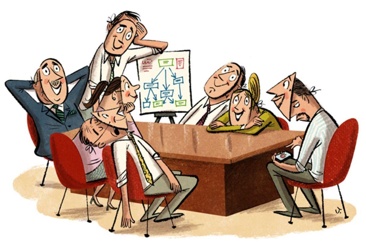 более простой прикольные картинки про совещание большое