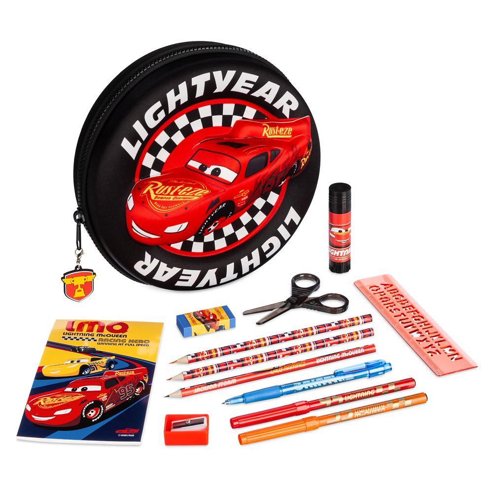 Lightning McQueen Zip-Up Stationery Kit