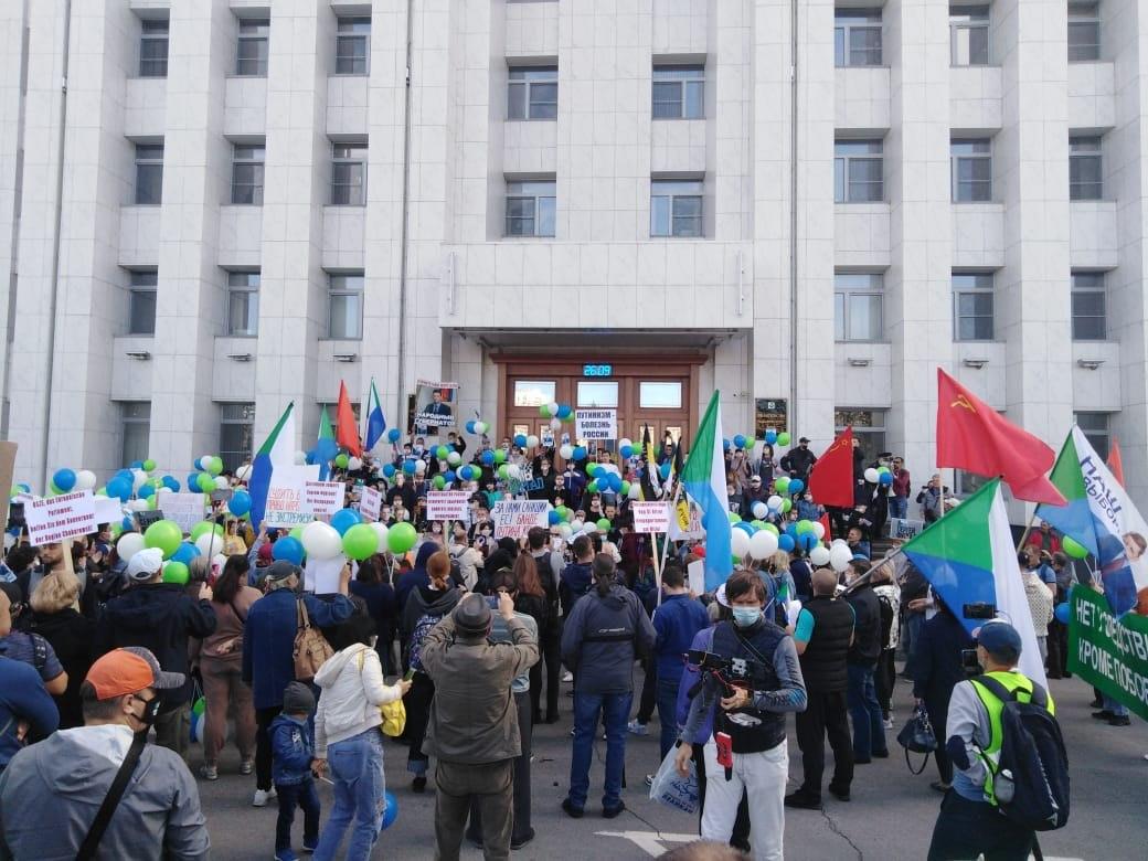 500 человек насчитала Администрация на митинге в Хабаровске
