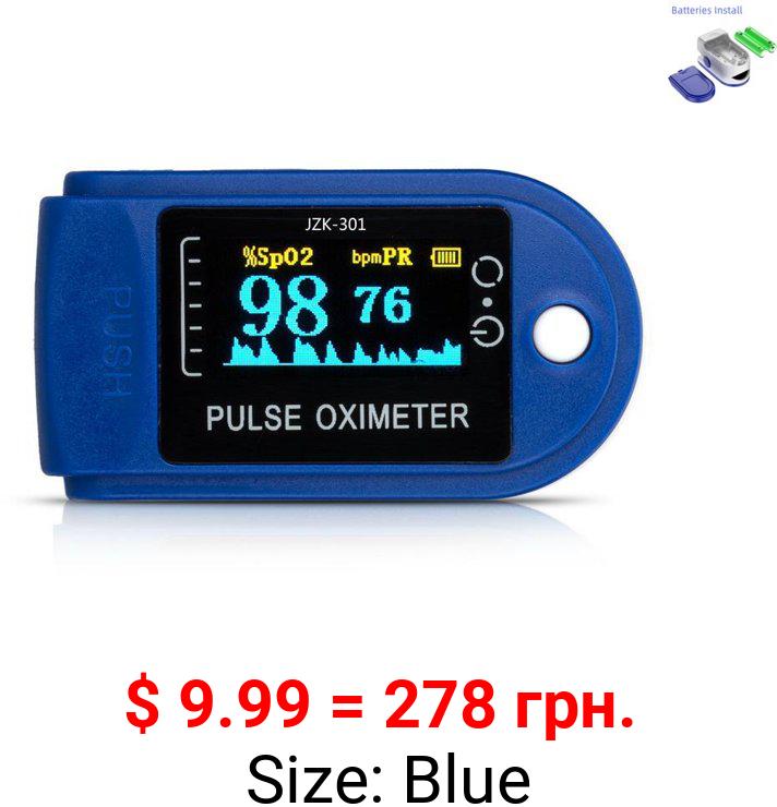 Finger Pulse Oximeter Blood Oxygen Saturation SpO2 Heart Rate O2 Monitor CE