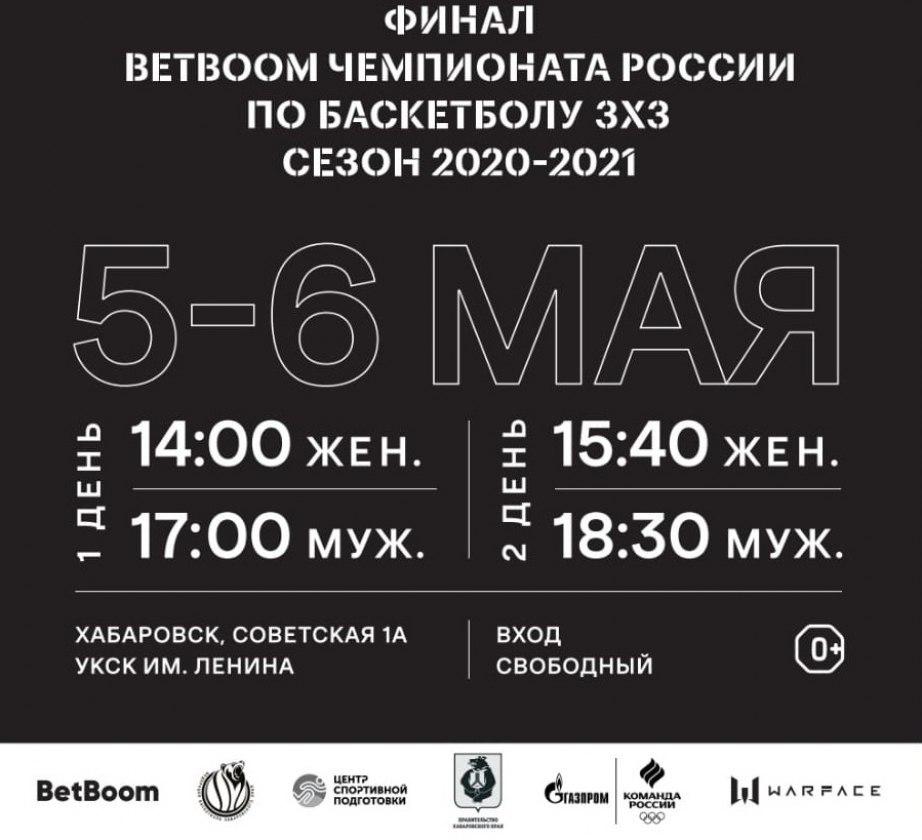 Хабаровск примет финал чемпионата России по баскетболу 3х3