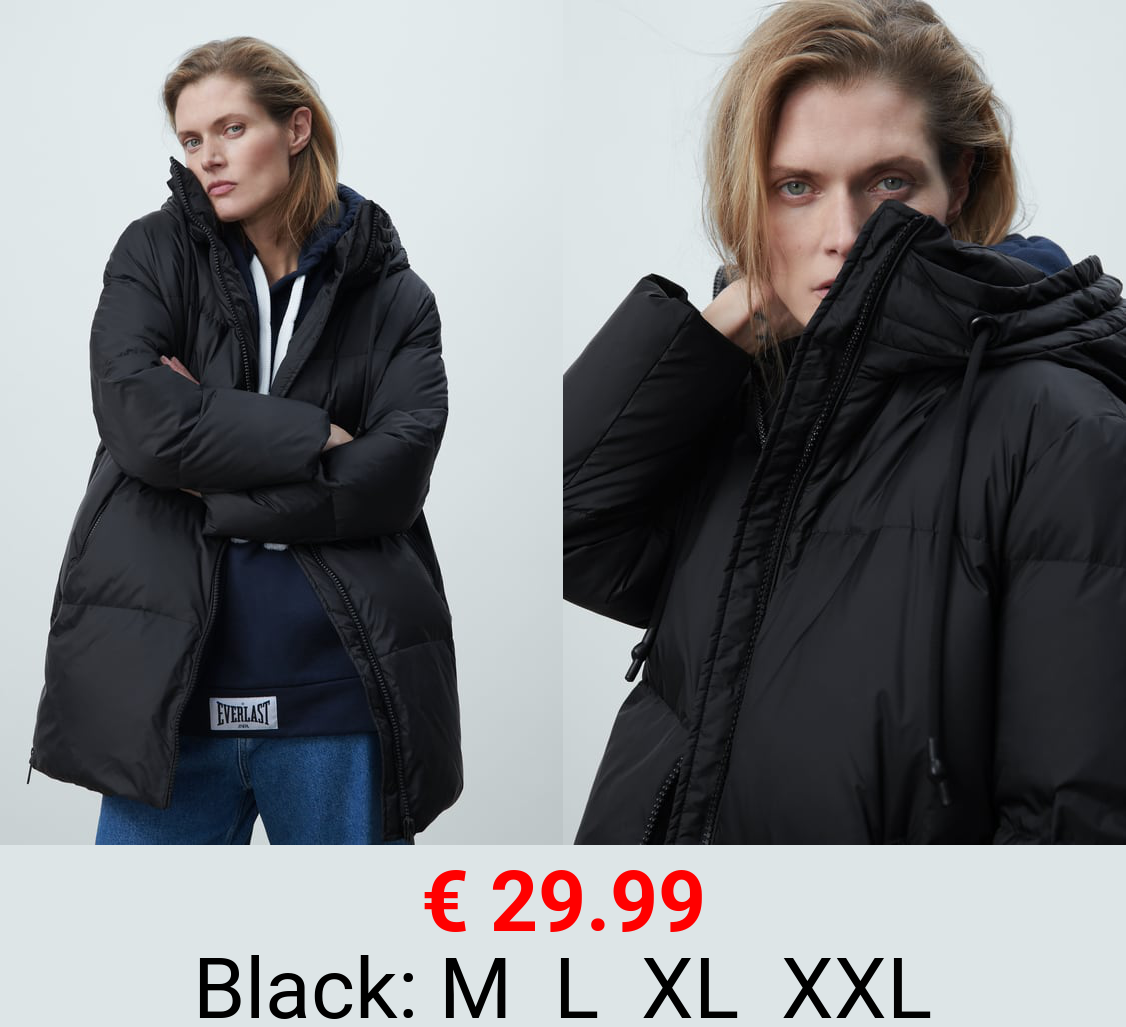 OVERSIZE DOWN JACKET WITH WATER AND WIND PROTECTION