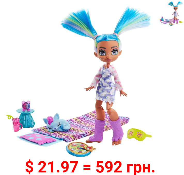Cave Club Stellar Sleepover Adventure Playset with Tella Doll & Pet, 4 Years and Up