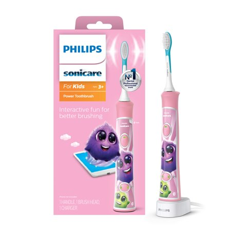 Philips Sonicare for Kids Rechargeable Electric Toothbrush with Bluetooth Connectivity, Pink