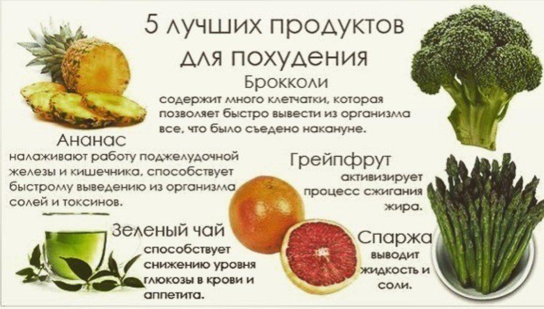еда для похудения список продуктов