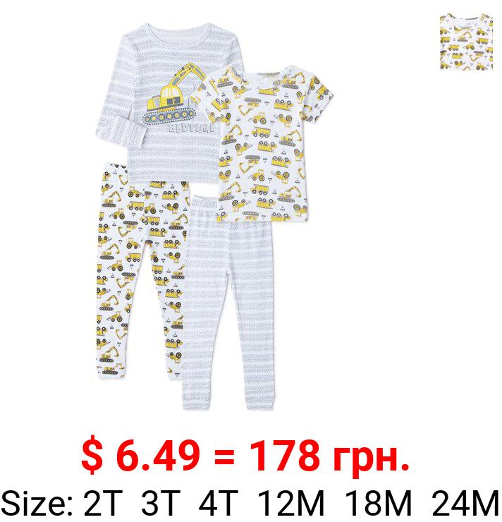 Cutie Pie Dreamers Baby Boy & Toddler Boy 4PC Tight Fit Cotton Sleep Set