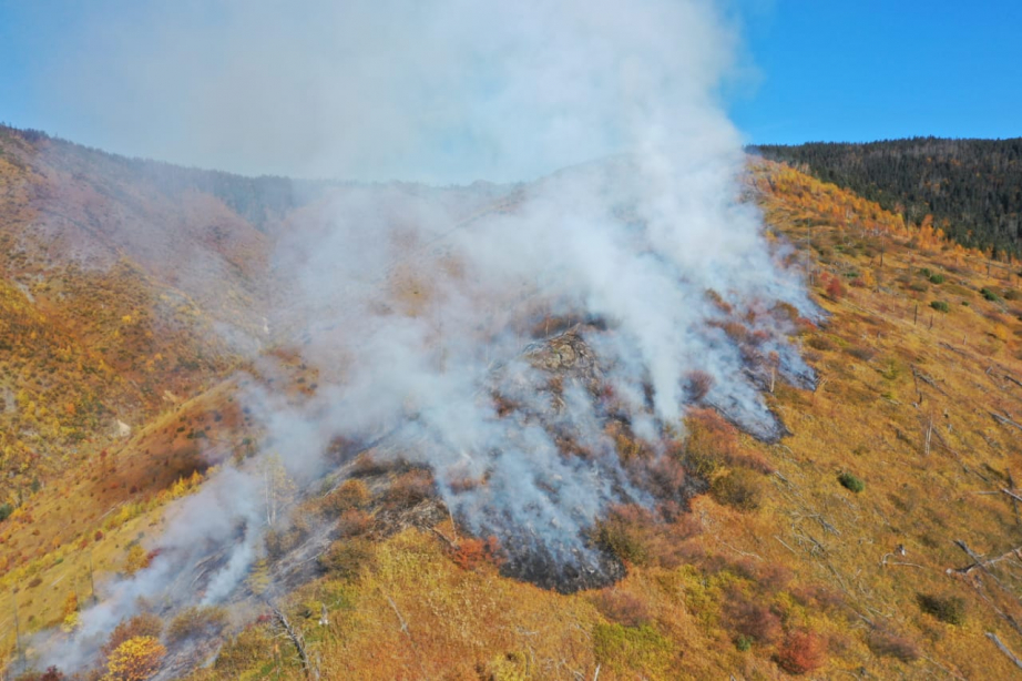 Пожар в Солнечном районе Хабаровского края