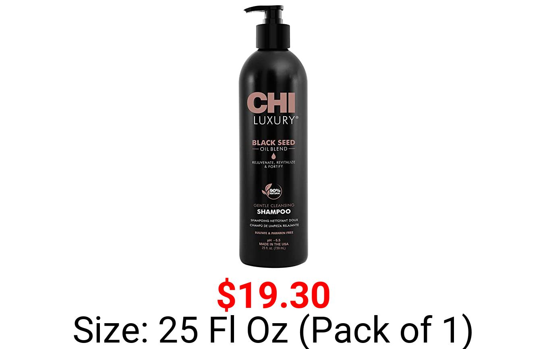 CHI Luxury Black Seed Oil Gentle Cleansing Shampoo, 25 Fl Oz
