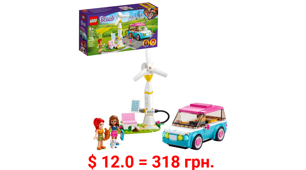 LEGO Friends Olivia's Electric Car 41443 Building Toy; Creative Gift For Kids (183 Pieces)