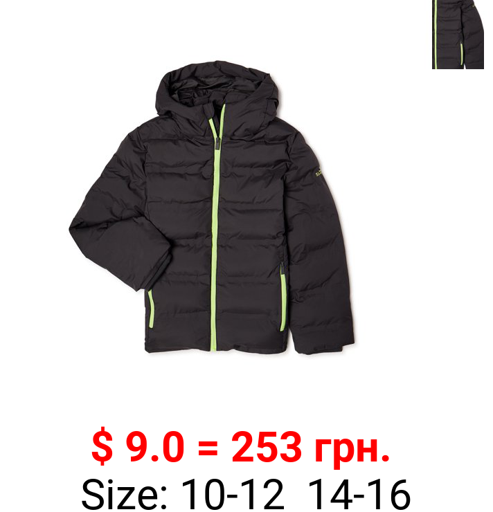Swiss Alps Boys Heavyweight Quilted Jacket, Sizes 8-16