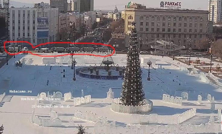 ОМОН подготовился к митингу в Хабаровске