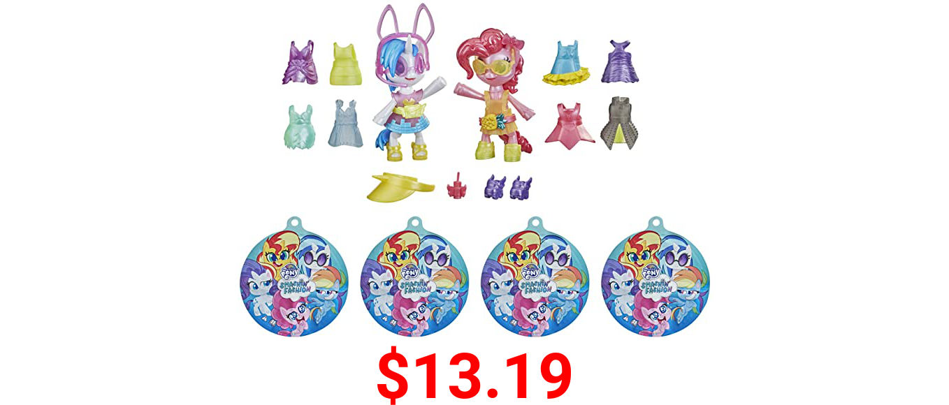 My Little Pony Smashin' Fashion Party 2-Pack -- 30 Pieces, Pinkie Pie and DJ Pon-3 Poseable Figures and Surprise Fashion Toy Accessories