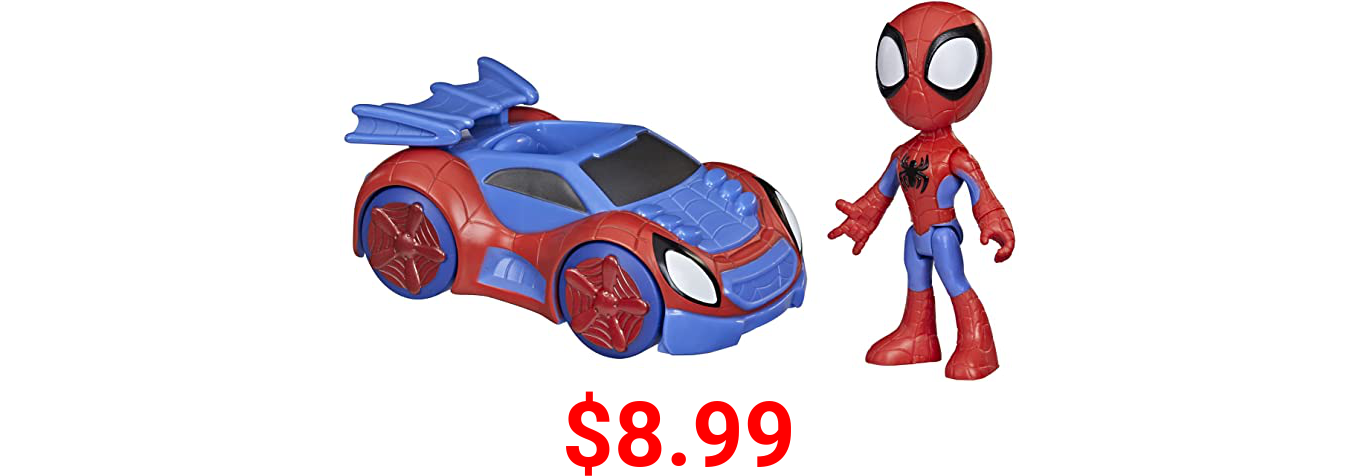 Marvel Spidey and His Amazing Friends Spidey Action Figure and Web-Crawler Vehicle, for Kids Ages 3 and Up
