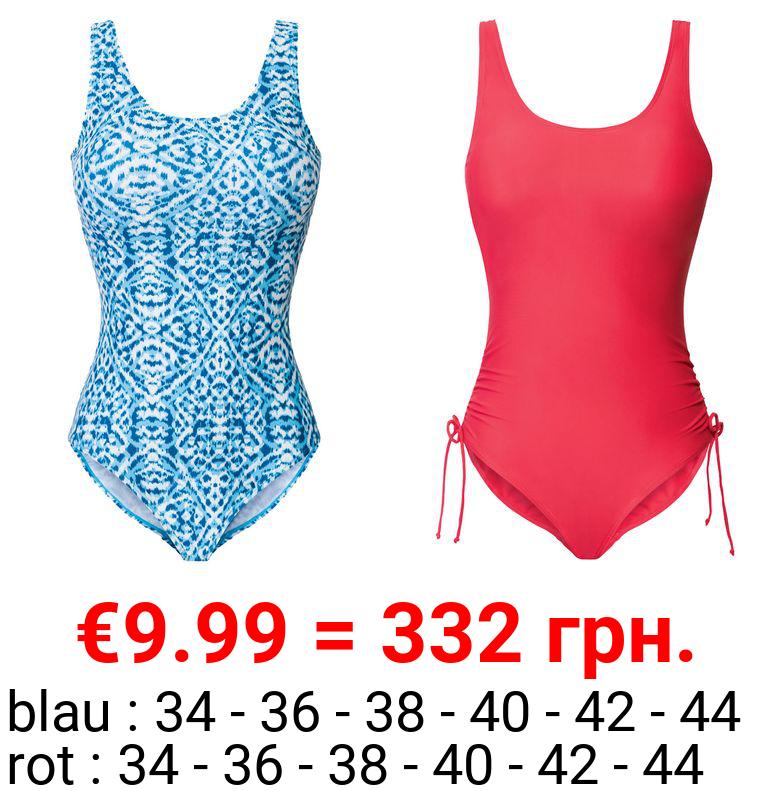 ESMARA® Badeanzug Damen, mit tiefem Rückenausschnitt