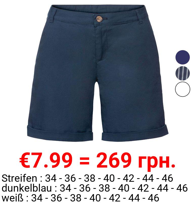 ESMARA® Shorts Damen, mit seitlichen Eingrifftaschen