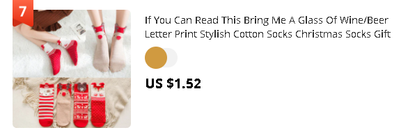 If You Can Read This Bring Me A Glass Of Wine/Beer Letter Print Stylish Cotton Socks Christmas Socks Gift Navidad New Year 2021