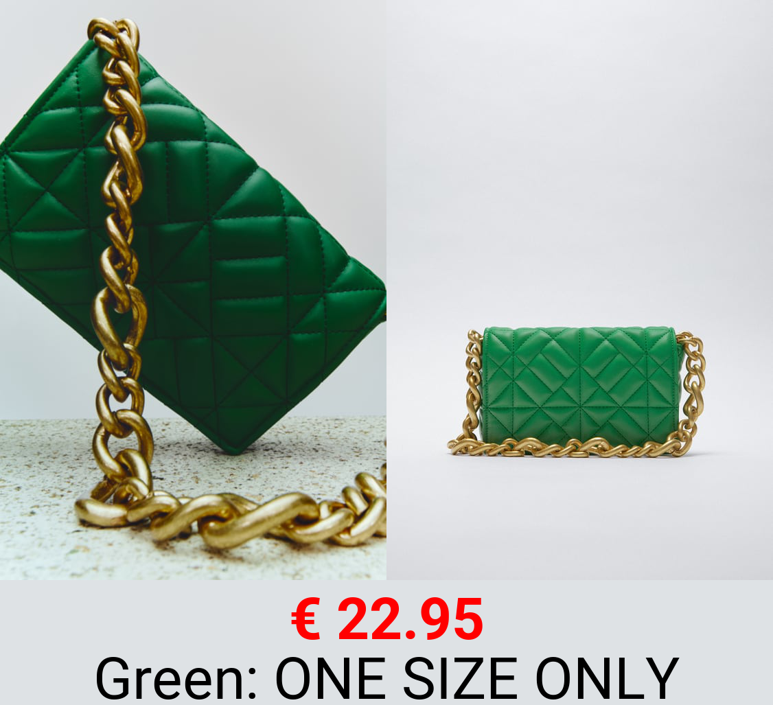 QUILTED SHOULDER BAG WITH CHAIN
