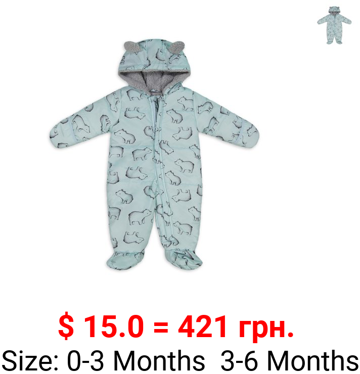 Child of Mine by Carter's Baby Boy Printed Puffer Snowsuit Pram Bunting
