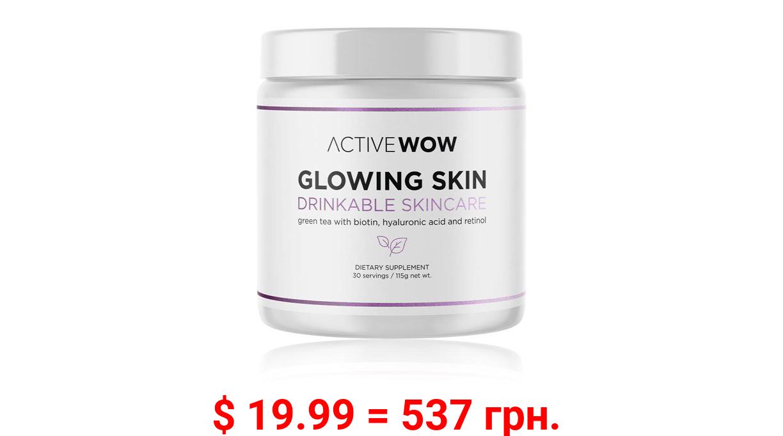 Glowing Skin Drinkable Skincare with Biotin, Hyaluronic Acid and Retinol