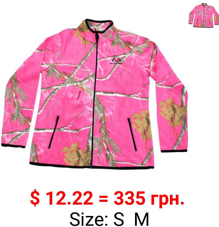 Realtree Women's Fleece Camo Full Zip Jacket, Realtree AP Hot Pink