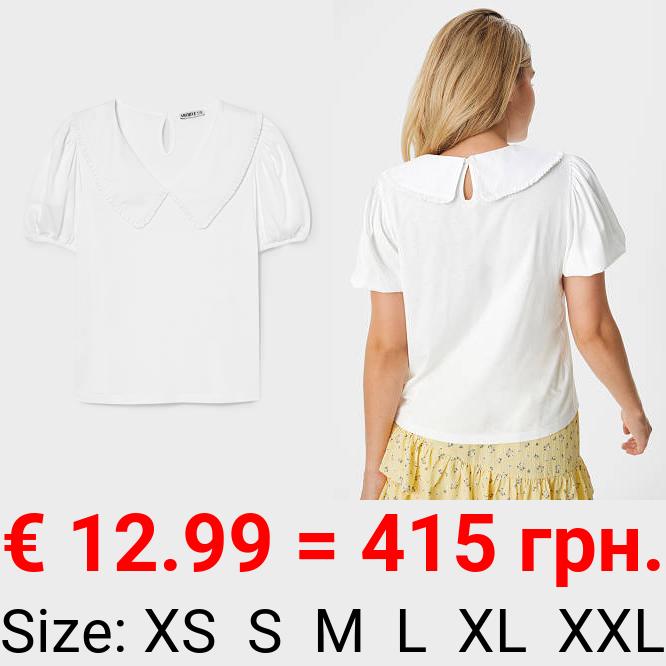 T-Shirt mit Kragen