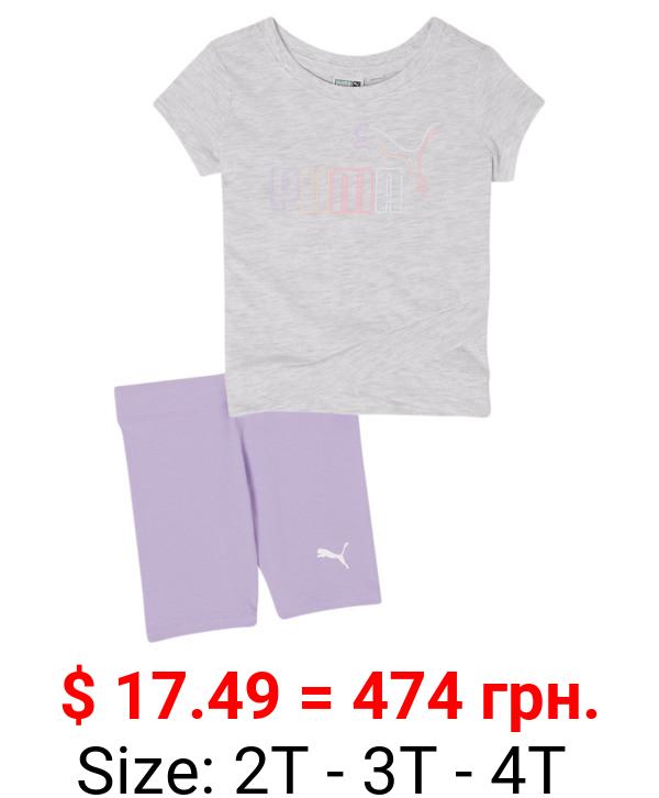 Tee + Biker Shorts Toddler Set