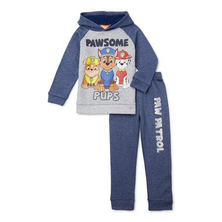 Paw Patrol Boys Hoodie Sweatshirt & Jogger Sweatpants, 2-Piece Outfit Set, Sizes 4-7