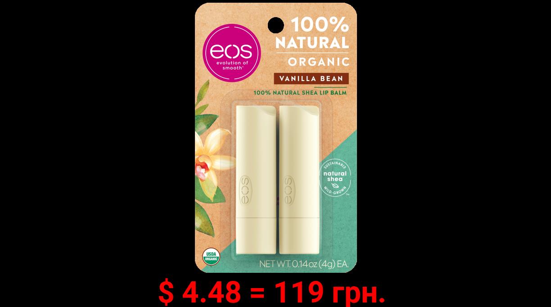 eos 100% Natural & Organic Lip Balm Stick - Vanilla Bean | 0.14 oz | 2-pack