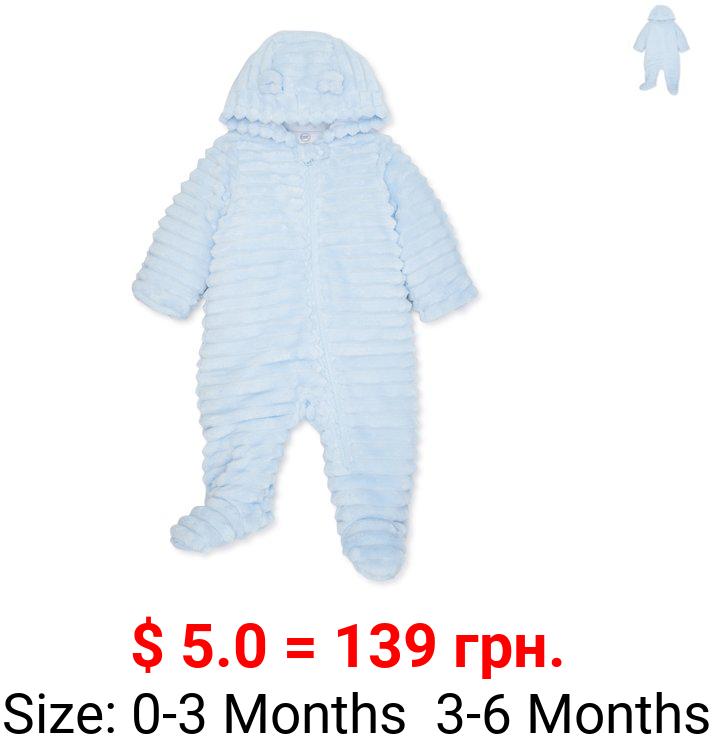 Wonder Nation Baby Boy Plush Snowsuit Bunting Pram